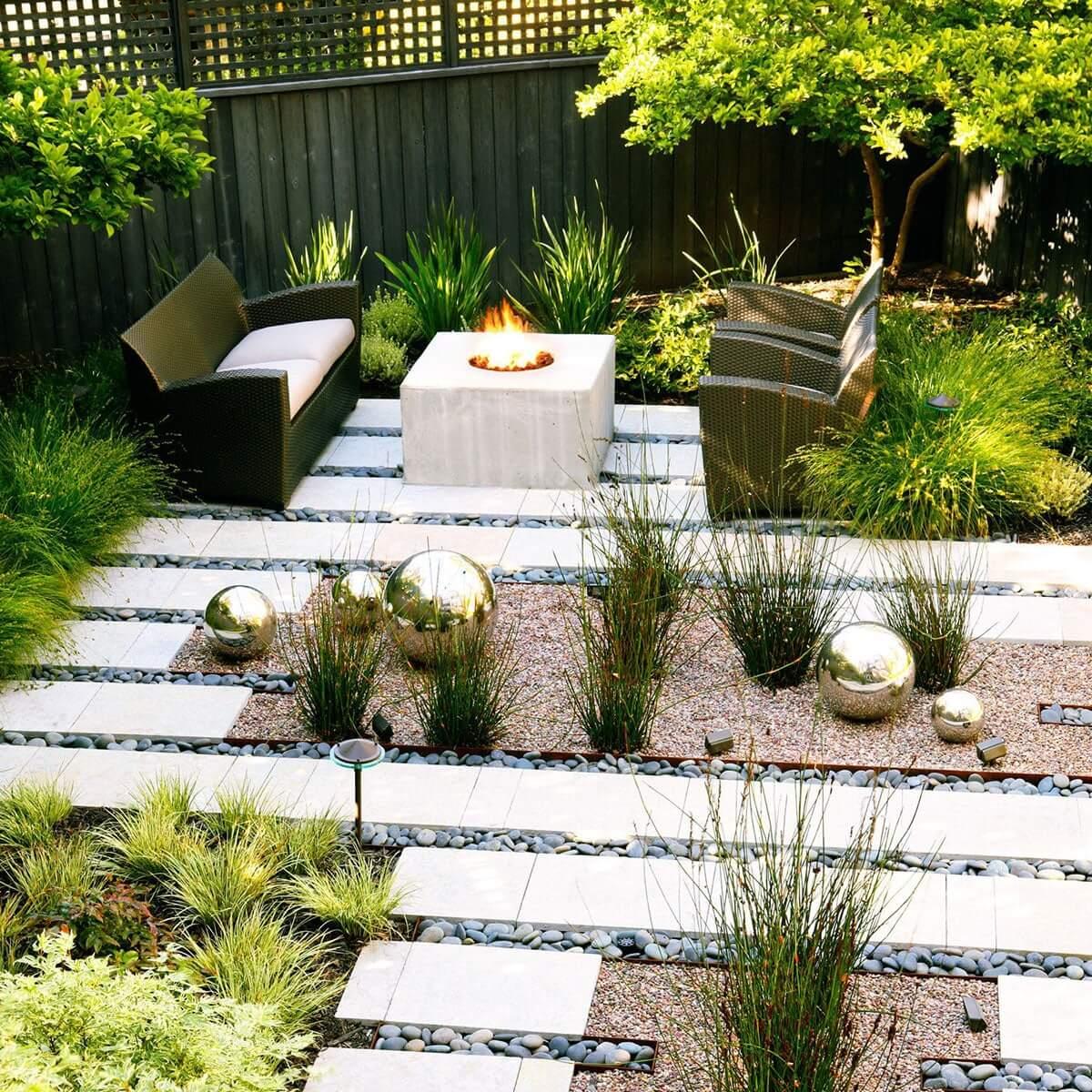 дизайн двора в частном доме своими руками