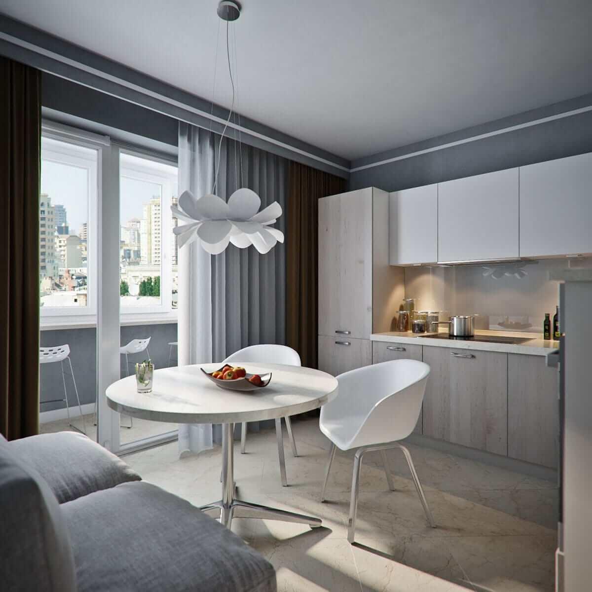 дизайн кухни 12 кв метров с балконом