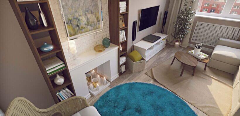 Дизайн проект 1-комнатной квартиры