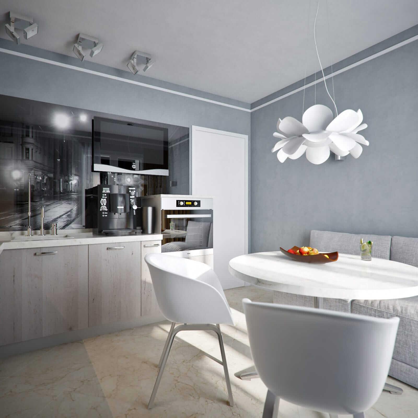 пример дизайн проекта однокомнатной квартиры