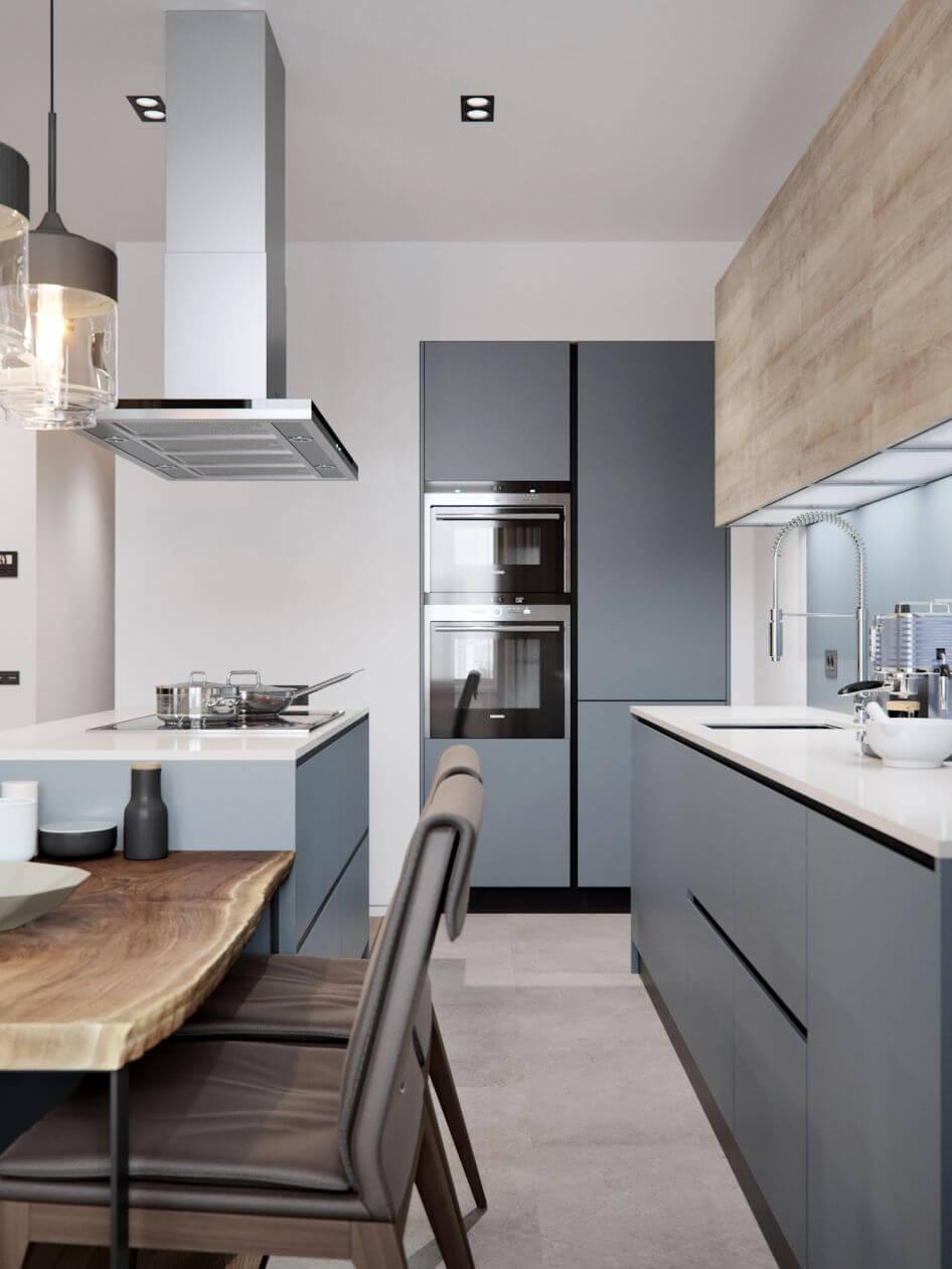 ремонт кухни длинной и узкой