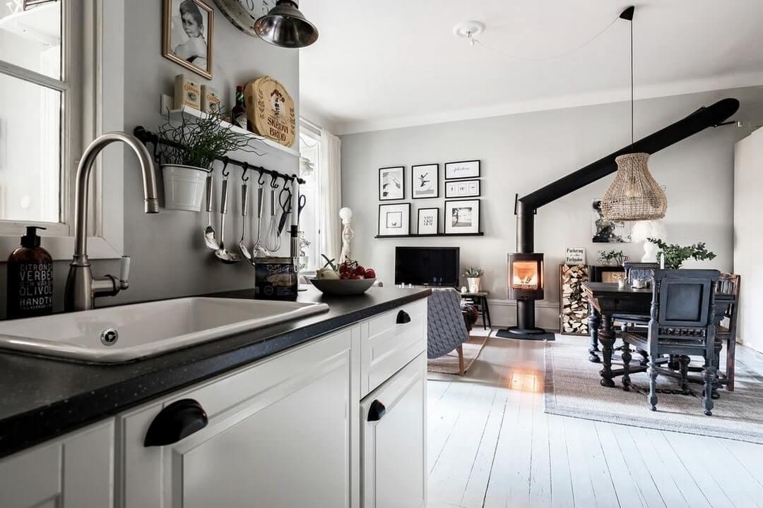 дизайн однокомнатной квартиры кухня-студия