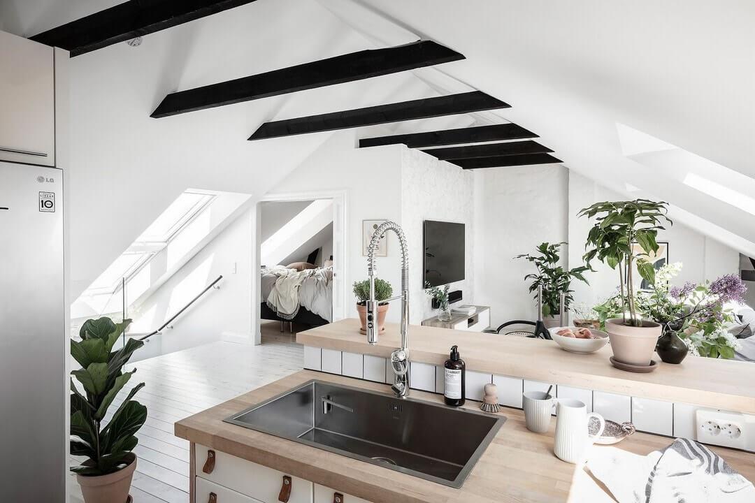 кухни на мансарде