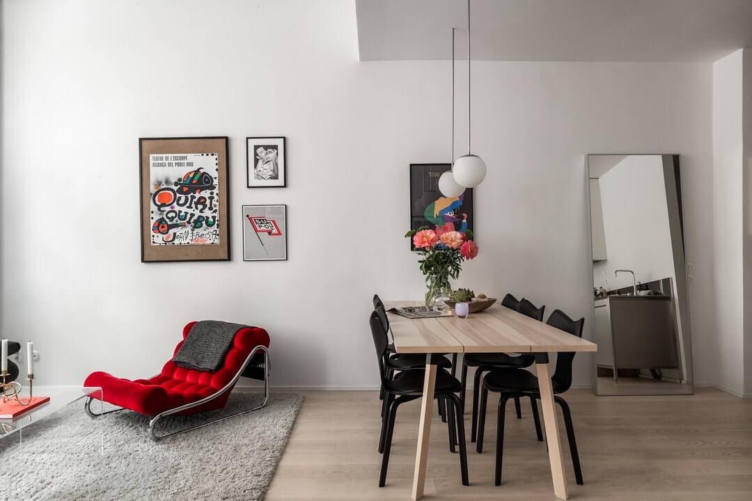 дизайн двухкомнатной квартиры студии