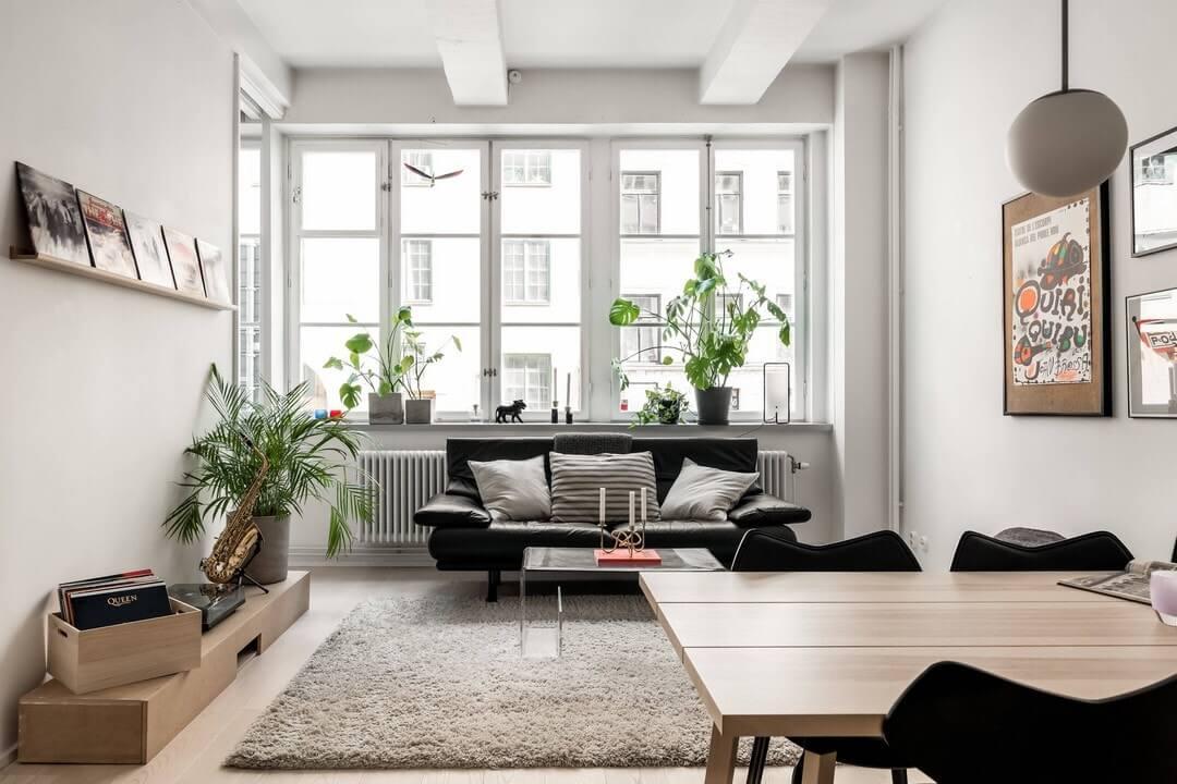 дизайн двухкомнатной квартиры в белых тонах