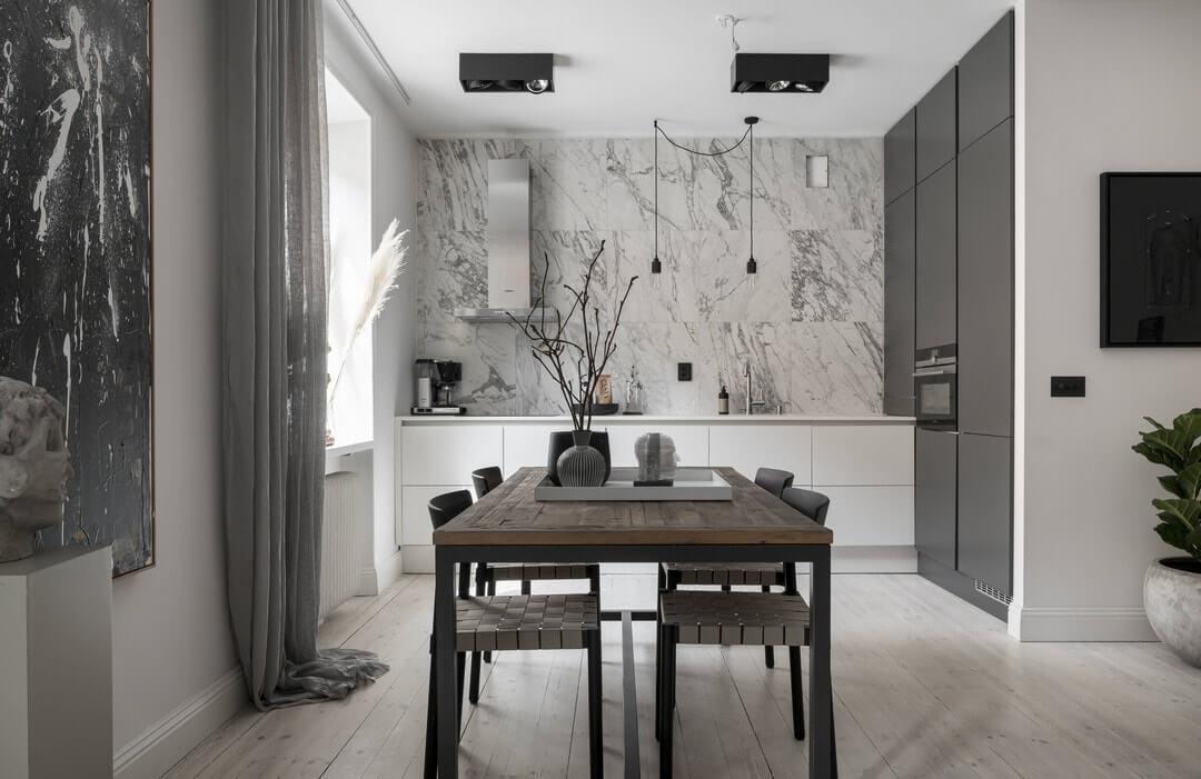 квартира студия дизайн кухни