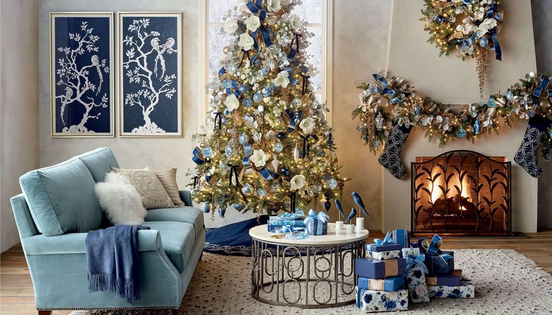 как украсить гостиную на новый год