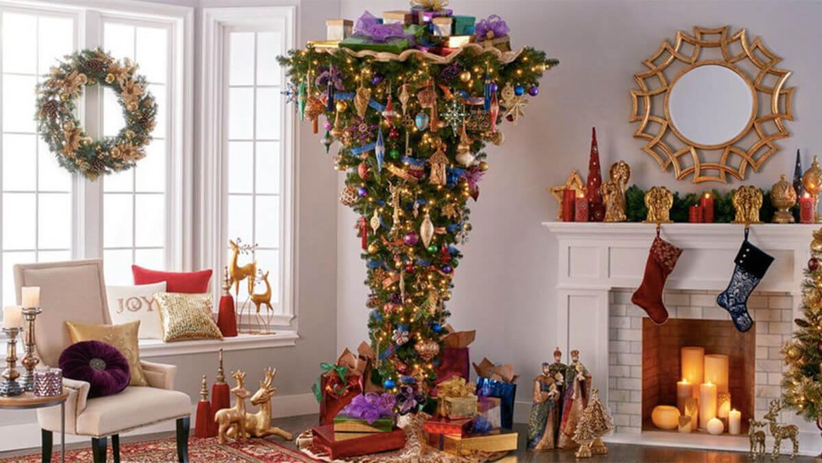 как красиво украсить гостиную на новый год