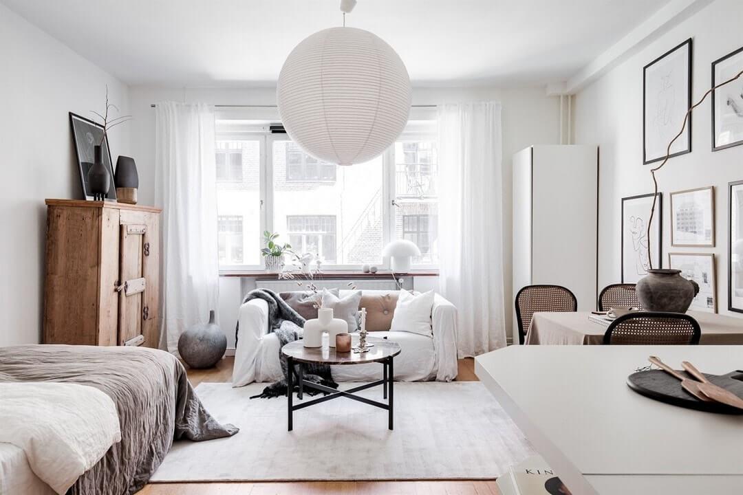 Как в квартире-студии уместить двухкомнатную квартиру