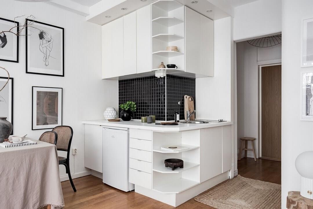 дизайн кухни гостинка