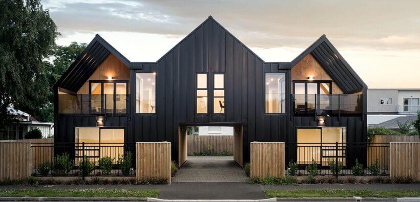 Новозеландский таунхаус на 4 квартиры