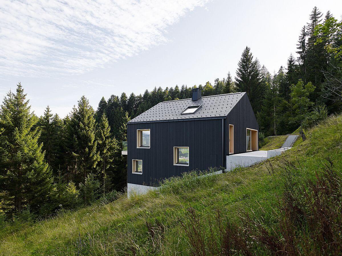 дом в лесу в горах