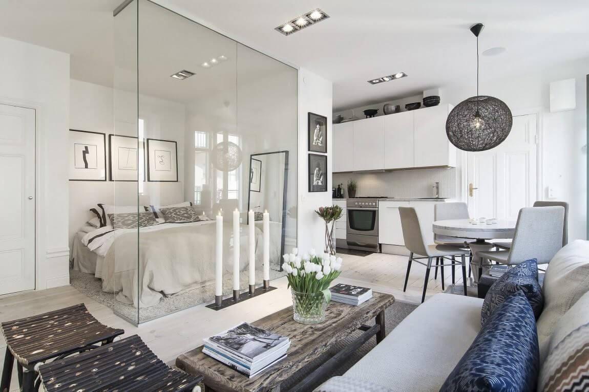 в белом цвете дизайн квартиры