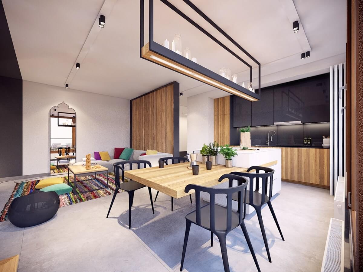 дизайн квартиры американская классика