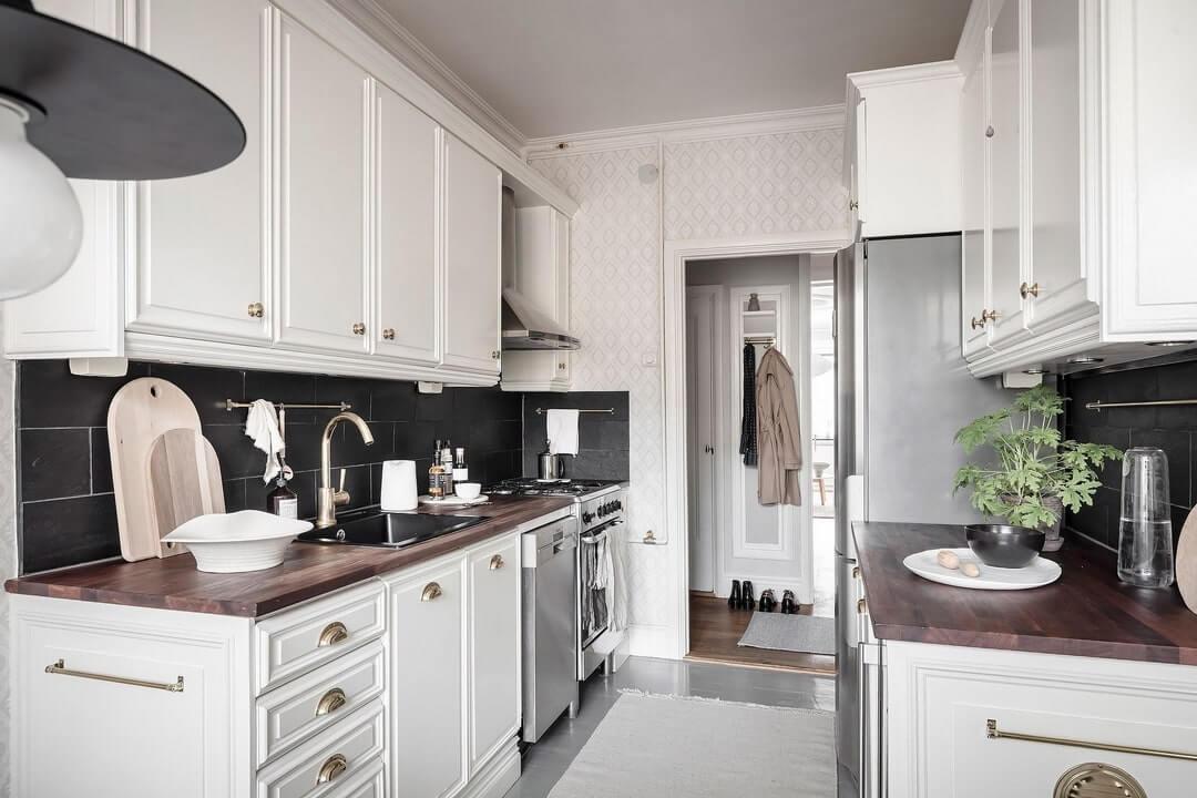 дизайн кухни белой