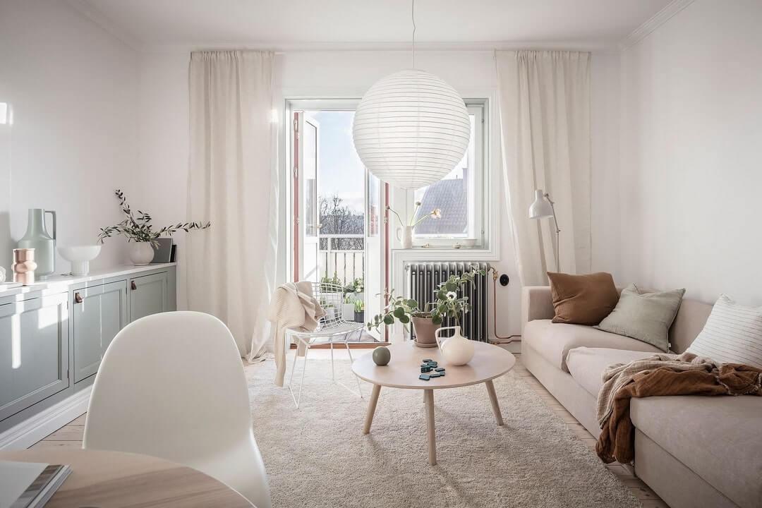 дизайн маленькой квартиры в светлых тонах