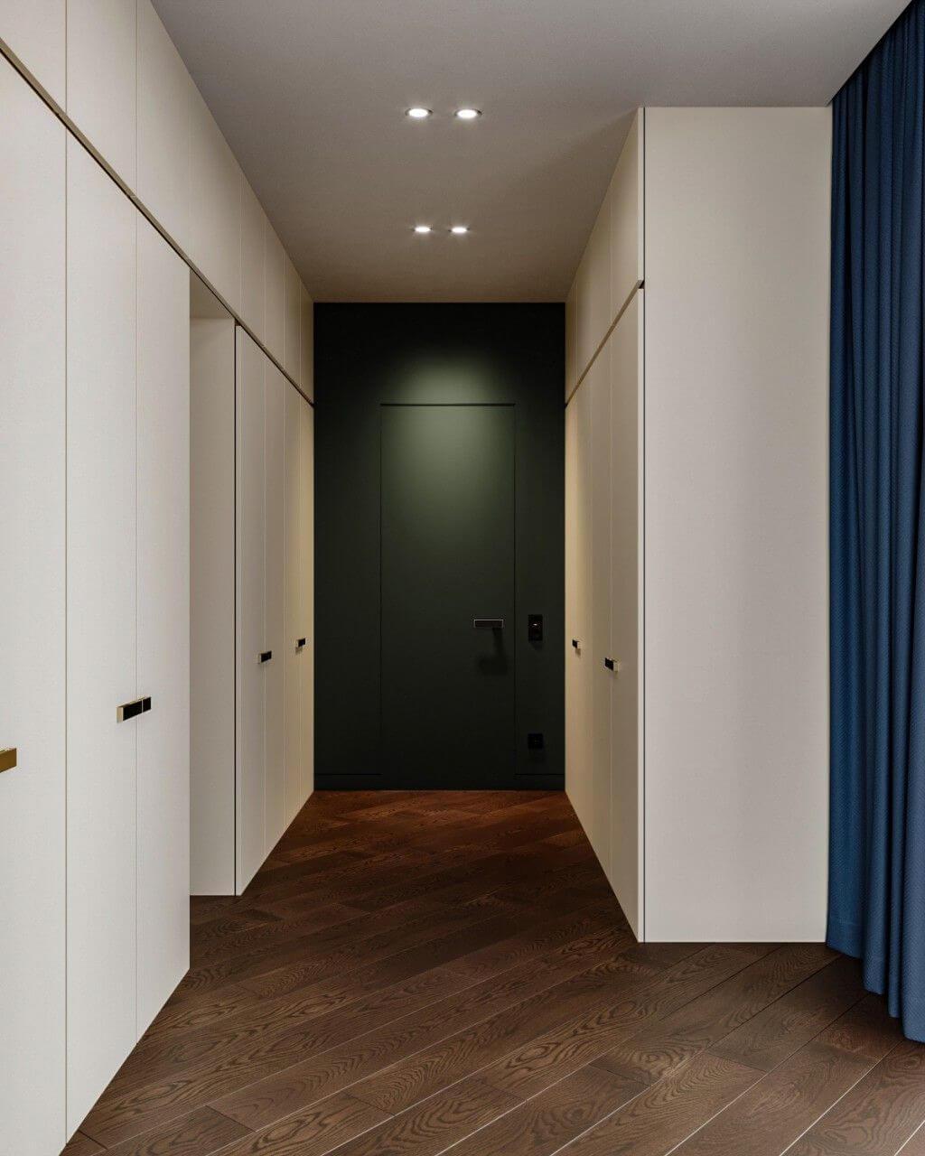 дизайн прихожей длинный коридор