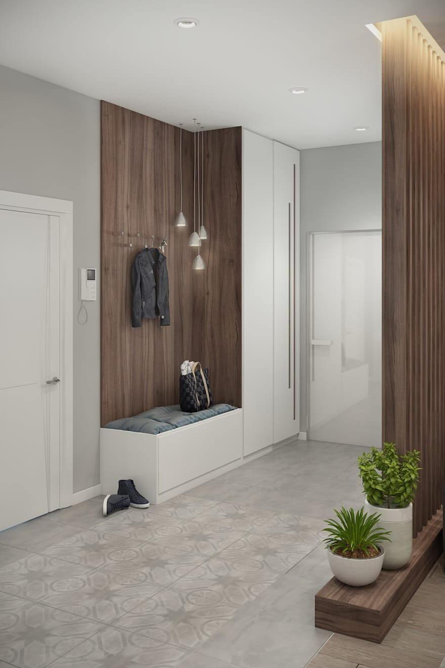 дизайн прихожей коридора
