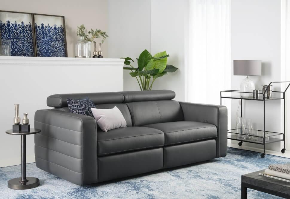 кожаный диван для кабинета
