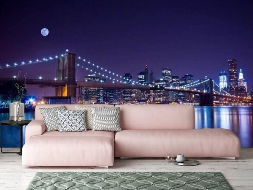 Красочные 3д-обои с вечерним пейзажем